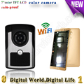 dingdong bell video door phone remote controlled remote door intercom IOS Android available wifi doorbell with 700tvl camera