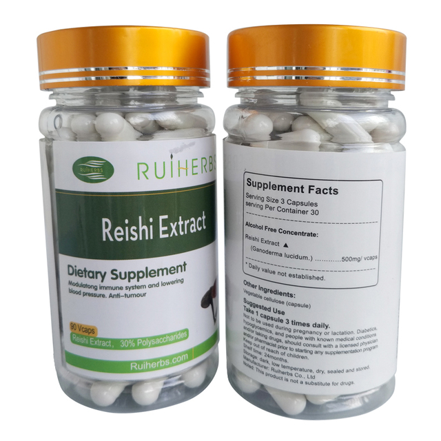Reishi Extract 30% Polysaccharide 5% Triterpenes 500mg X 90Capsule =1Bottle free shipping