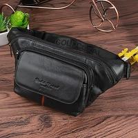 Famous Brand Men Genuine Leather Sling Chest Day Pack Hip Bum Waist Pack Bag Belt Cross Body Designer Shoulder Messenger Bags