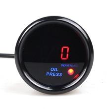 2 дюйма (52 мм) красный цифровой автомобильный измеритель давления масла Авто измеритель давления масла с датчиком