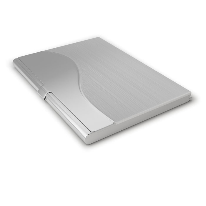 Popular  Waterproof Stainless Steel Silver Aluminium Metal Case Box Business ID Credit Card Holder Cover namecard cardcase #W