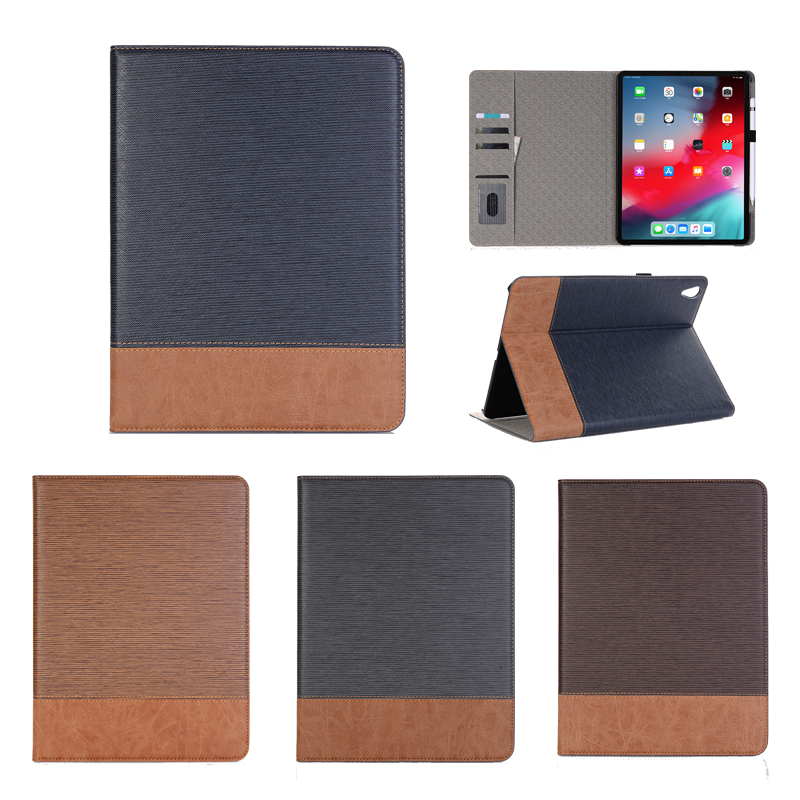 Luxury Leather Flip Case On For Ipad 9.7 Inch 2019 A1822 Card Slot Stand Smart Holder Cover Wake Up Protective Wallet Book Case