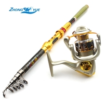Big sale High Quality Fishing Reel And Rod Set  Telescopic Fishing Rod 12BB Spinning Reel Combo Fishing Tackle  Lowest profit