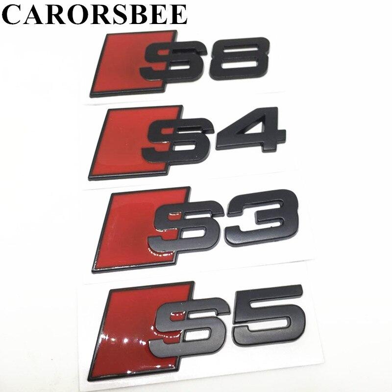 CARORSBEE черный 3D металл s С3 С4 С5 С6 С8 СЛАЙН автомобиля хвост стикер эмблемы значка логотип стайлинга автомобилей для Audi В3 В5 В7 В5 В6 В8 С5 С6
