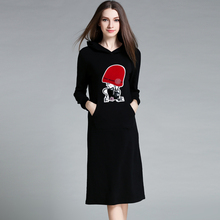 ZanZea Autumn Dress 2016 Vestidos Women Dress Plus Size Robe Sexy Cartoon Casual Hooded Long Sleeve Dress Ropa Mujer