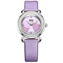 Relojes Mujer marca de lujo impermeable reloj del cuero del cuarzo del  estilo reloj del zafiro ec249cf9a147