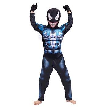Venom Costume Cosplay Movie Superhero Halloween Carnival Fancy Children Deadly Gua