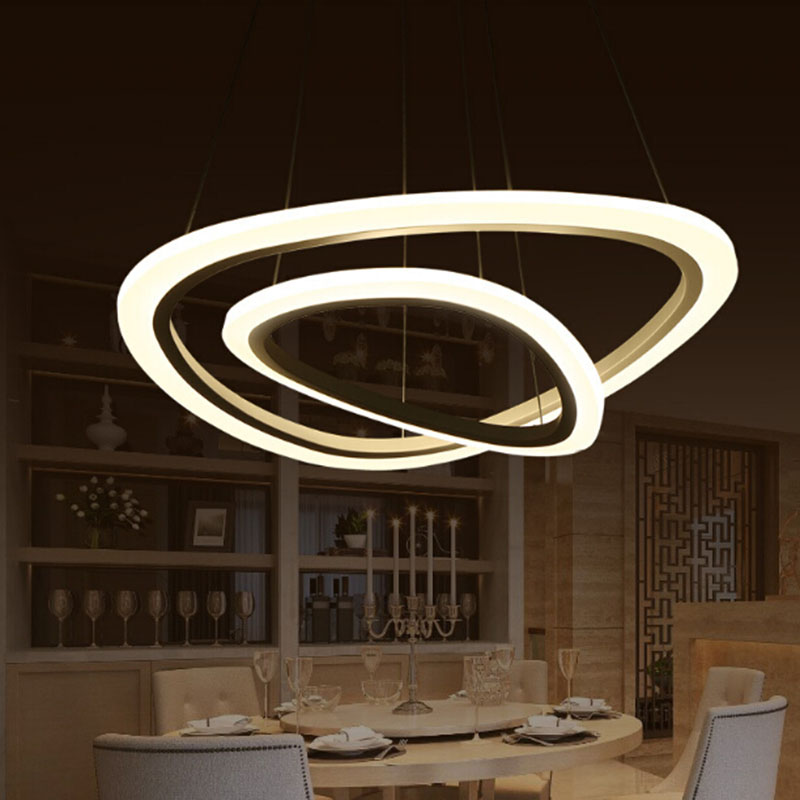 NEW irregular Circle Rings acrylic LED Lighting ceiling Lamp fixtures Modern pendant lights for living room dining room bedroom