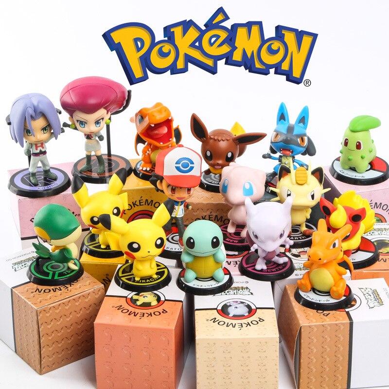 WOW, 6pcs/<font><b>set</b></font> <font><b>Pokemon</b></font> Go Toys <font><b>Pocket</b></font> <font><b>Monster</b></font> <font><b>Action</b></font> <font><b>Figure</b></font> Brinquedos Pikachu Charmander Bulbasaur Toys for Children Xmas Gift