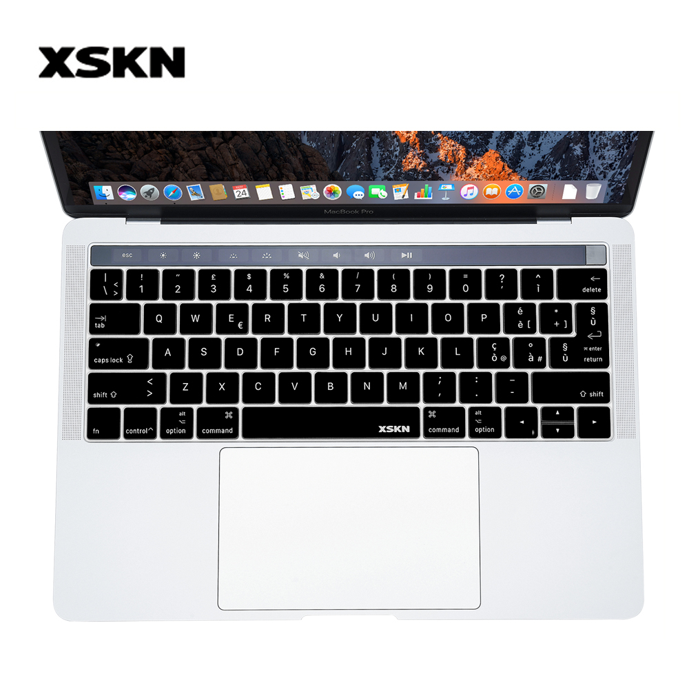 XSKN Italian Silicone Keyboard Skin Italiano Protector for 2016 New Macbook Pro 13.3 Inch A1706 & 15.4 Inch A1707 Plus Gift
