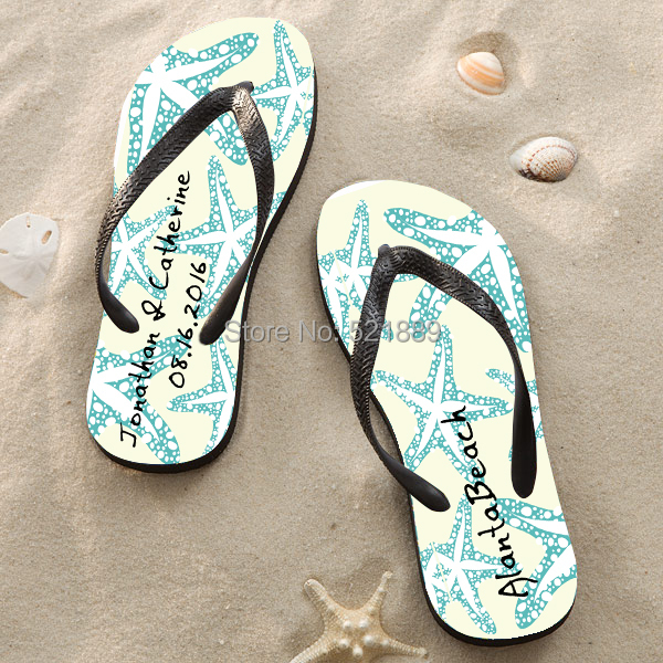 ea208cb4a3ff0 Beach wedding flip flops for guests