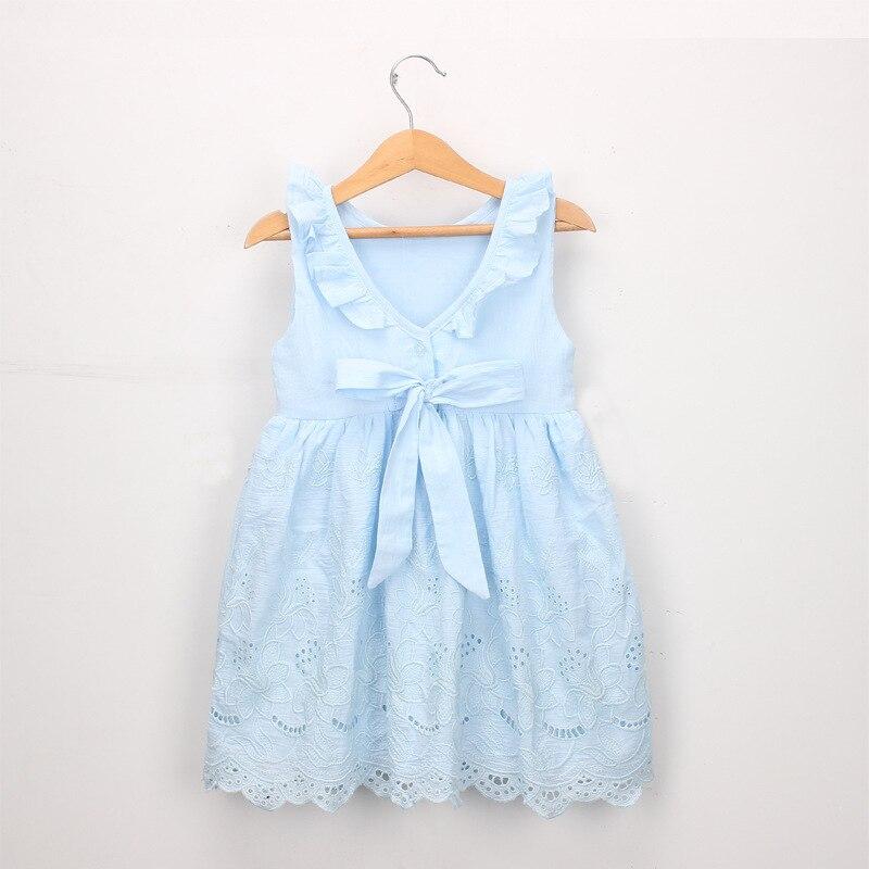 Newborn Kid Baby Girls Summer Dresses Princess Party Dress Sundress Sleeveless Cotton Baby Girl