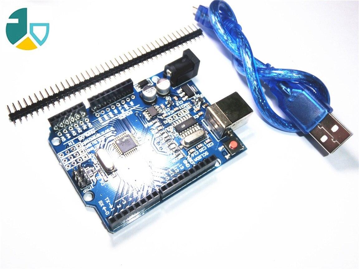 FJS-127 haute qualité Un ensemble UNO R3 (CH340G) MEGA328P pour Arduino UNO R3 + USB CÂBLE ATMEGA328P-AU conseil de Développement