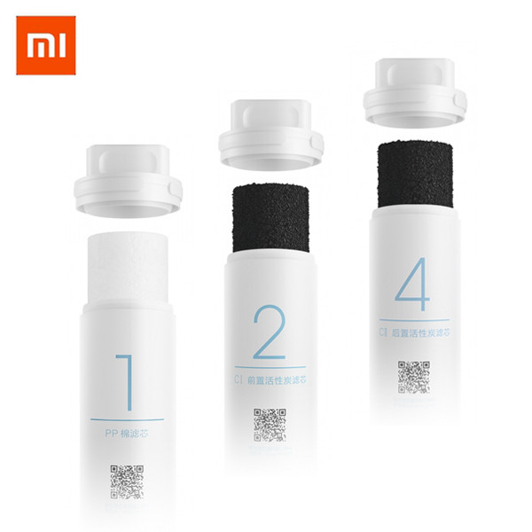 Xiao Mijia Original Mi Water Purifier Filter Replacement PP Cotton Activated Carbon Drinking Water Filter factory direct sales 2 level direct drinking water purifier pre filter water filter granular activated carbon ppf cotton