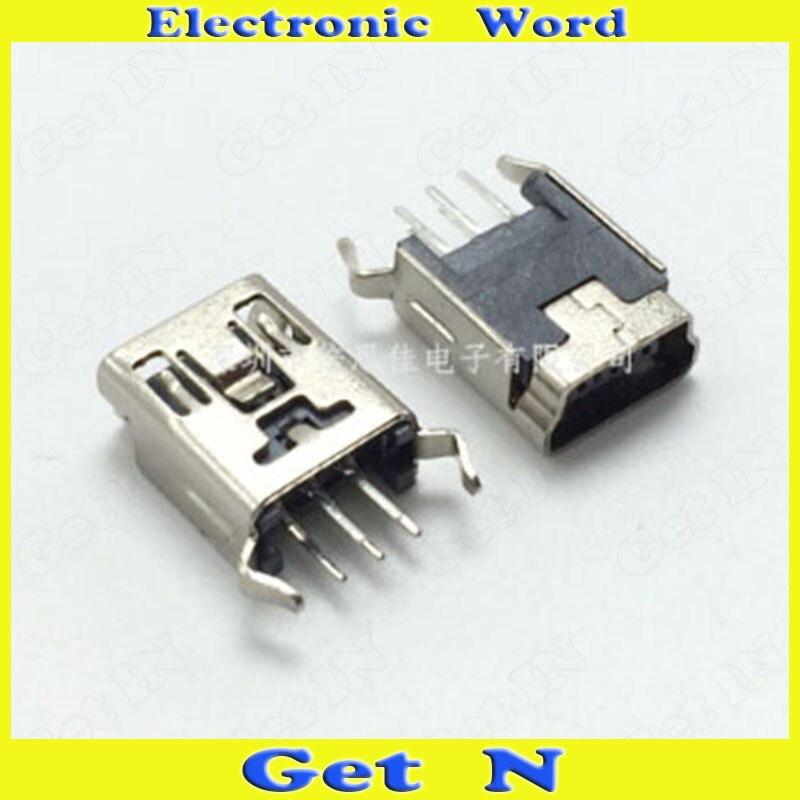 626f5c8dd3 25 pcs Produto Digital Mini USB Feminino Jacks Soquete Mini USB Power  Carregamento Conectores