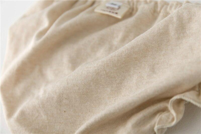 Qız moda bərk rəngli krujeva Pambıqlı alt paltarı Körpə Bezi - Uşaq geyimləri - Fotoqrafiya 5