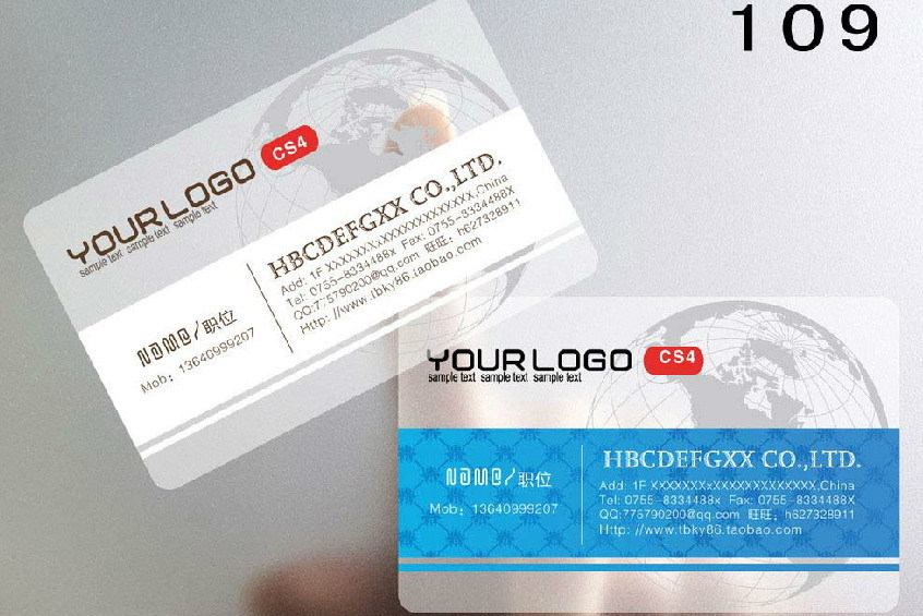Free Shippingcustomized Custom Printing Service Pvc Transparent