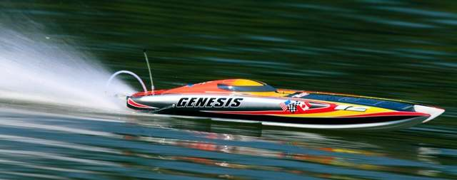 US $279 0  Genesis 1122 Catamaran Racing Boat/ Electric Brushless RC Boat  Fiberglass with 3674 brushless motor KV207, 125A ESC with BEC-in RC Boats