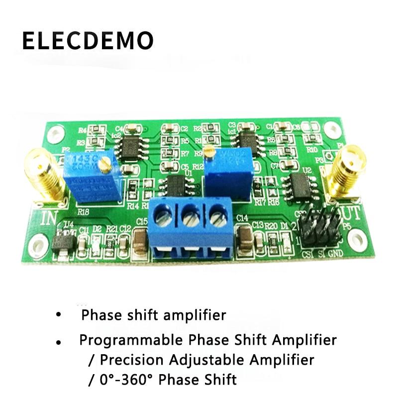 MCP41010 прецизионный программируемый усилитель фазового сдвига 0 360 градусов Регулируемый фазовый Переключатель платы модуля-in Аксессуары для демонстрационных стендов from Компьютер и офис