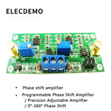 MCP41010 Precision Programmable Phase Shift Amplifier 0-360 Degree Adjustable  Shifter Circuit Module Board