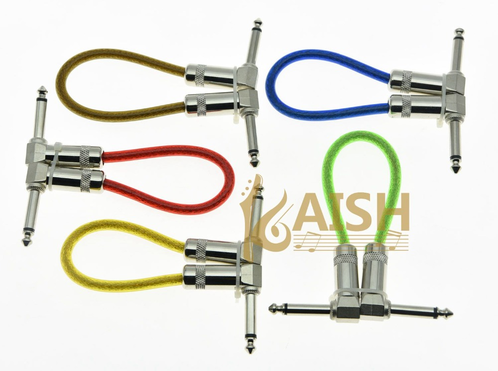 KAISH Kaish 5-Pack 20cm 8'' Mono Guitar Effect Pedal Board Patch Cable Effects Pedal Cord купить фуьболку я люблю москву