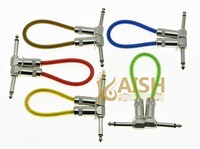 Kaish 5 Pack 20cm 8 Mono Guitar Effect Pedal Board Patch Cable Effects Pedal Cord