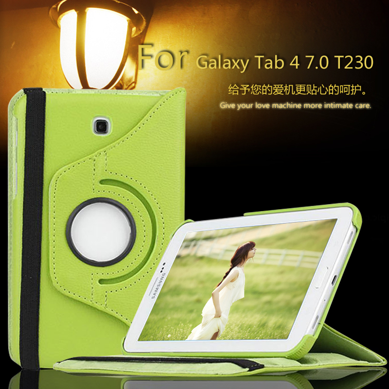 New Case For Samsung Galaxy Tab 4 7.0 inch T230 / T231 / T235 Tablet PU Leather Case Cover Rotating luxury 7 flower pug tablet pu leather flip stand tablet book cover case for samsung galaxy tab 4 tab4 7 0 t230 t231 t235 z1