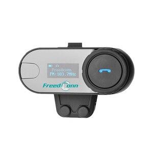 Image 4 - Nova versão atualizada! Freedconn T COMSC bluetooth capacete da motocicleta interfone fone de ouvido tela lcd + rádio fm