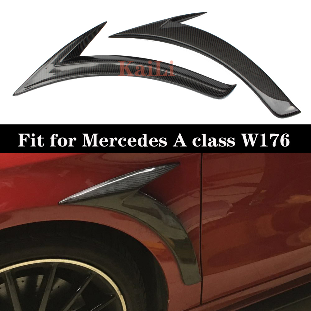 1 Pair Car Black ABS Front Bumper Splitter Canard for <font><b>Mercedes</b></font> for <font><b>Benz</b></font> <font><b>W176</b></font> <font><b>A200</b></font> A250 A45 image