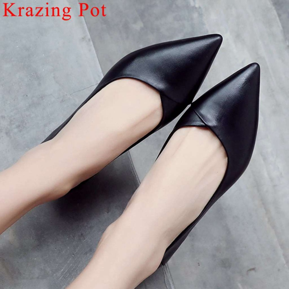 2019 hot sales cow leather chunky low heels slip on elegant lady oxford pointed toe movie
