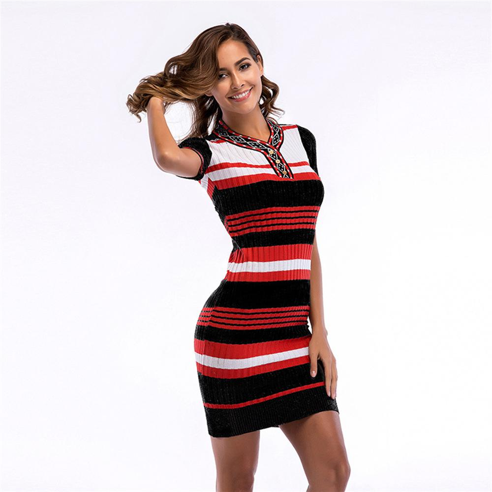 2018-new-arrival-knitting-sexy-stretch-dress-women-sexy-short-sleeve-party-skinny-casual-knitted-striped-bodycon-knit-dress