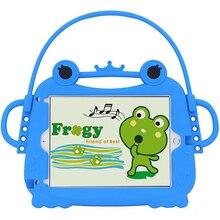 Чехол для ipad 2/3/4 air 1/2 Kids силиконовый Милая мультяшная лягушка противоударный портативный защитный чехол с ручкой