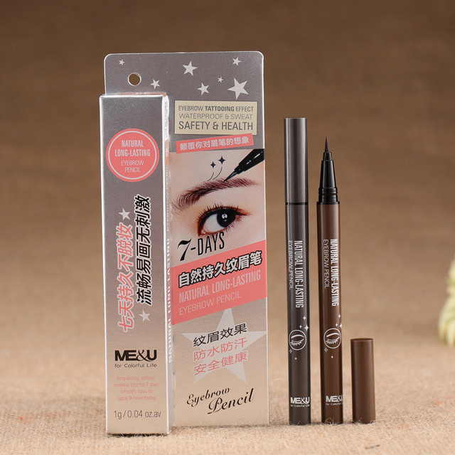 1 Pcs Waterproof Makeup Eye Brow Pencil Liquid Eyebrow Pen Fine Eyebrow Enhancer Longlasting Natural Cosmetic
