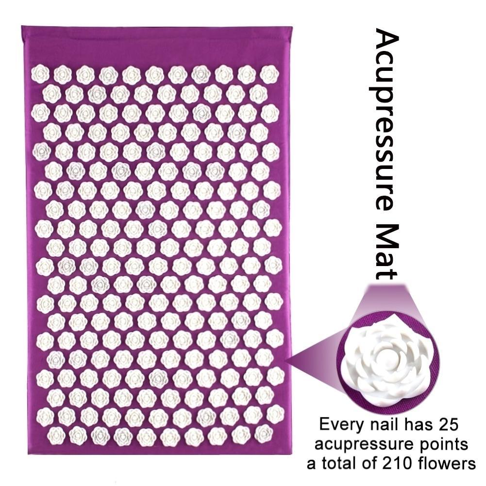 Stress Releasing Acupressure Massage Mat and Pillow Set for Yoga and Exercise 1