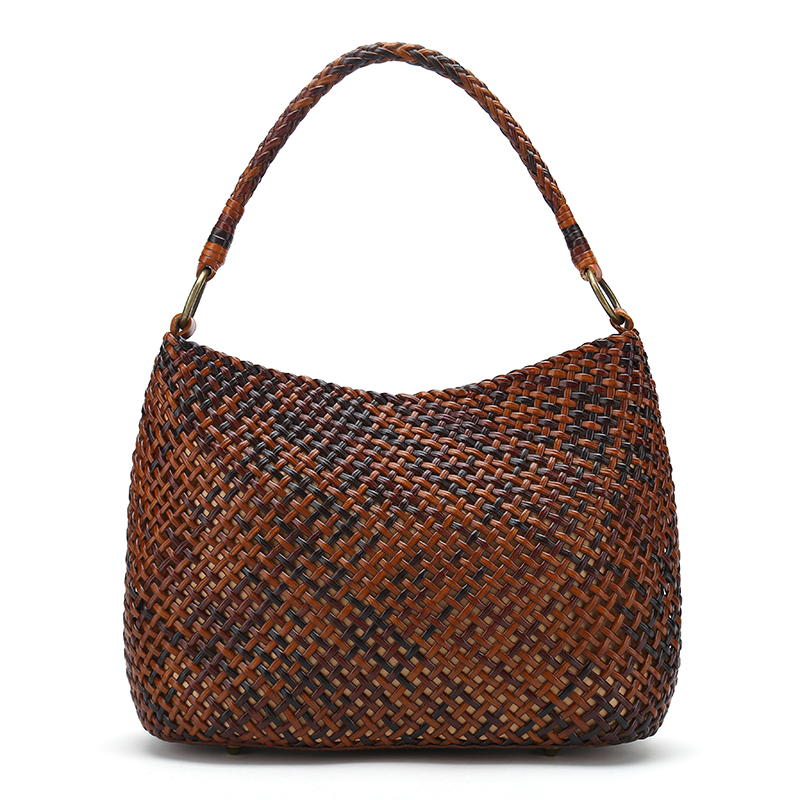 2017 Classic Lady Genuine Leather Shoulder Bags High Quality Woven knitted Totes Women leather weaved handbags 247 classic leather