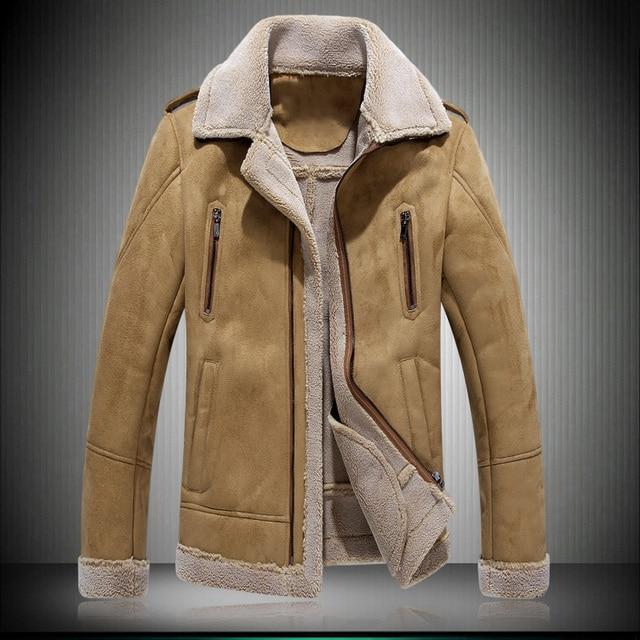 2016 Men's leather jacket vintage Genuine Leather jacket men fur leather coat motorcycle jacket  Winter Jacket Men size 4XL