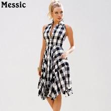 Messic Ärmel Kariertes Hemd Kleid Frauen 2018 Sommer Unregelmäßigen Rand  Slim Fit Robe Femme Casual Knielangen Damen Kleider