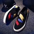 Free Shipping 2017 Chinese Style Summer Male Graffiti Shoes Student Tide A Pedal Lazy Shoes Men Breathable Slip-on Flat Shoes