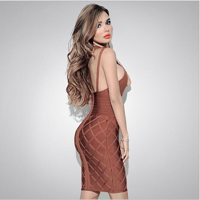HAGEOFLY Hollow Out Sexy Bandage Dress Women Summer Dress 2017 Club Bodycon Party Dresses Celebrity Runway Club Elegant Vestido 3