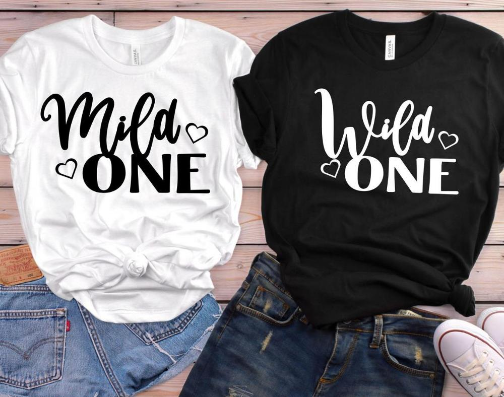 Mild One Wild One Best Friend Women Tshirt Cotton Casual Funny T Shirt Gift 90s Lady Yong Girl High Quality Drop Ship S-836