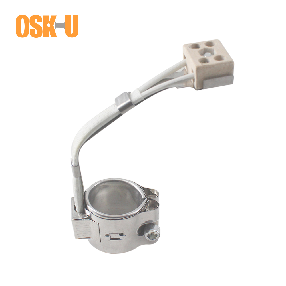 25mm ID Band Heaters 25/30/35mm Height Stainless Steel Electric Heating Element Wattage 60/70/80W For Injection Machine
