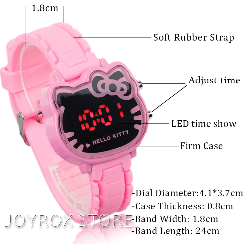 JOYROX Hot Hello Kitty LED Barneklokker 2018 Gummi Strap Child Watch - Barneklokker - Bilde 5