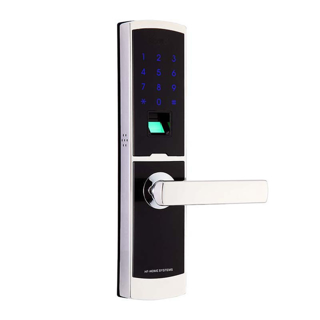 Contemporary LACHCO 2018 Electronic Door Lock Fingerprint Digital Keypad Touch Screen Password Card Smart Stainless Steel Door In 2019 - Cool metal door lock New Design
