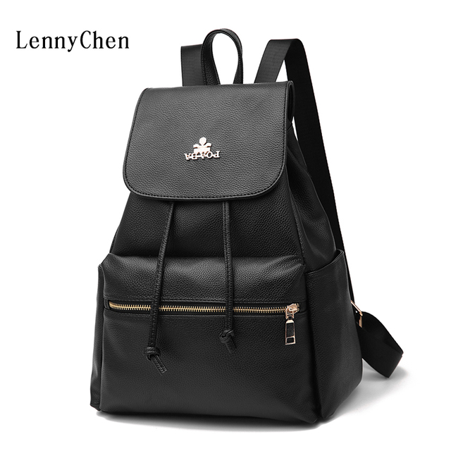 9b42cdcceb 2017 New Arrival Fashion Women Bag Black PU Leather Zipper Student Backpack  Women Casual Good Quality School Bag TXJ