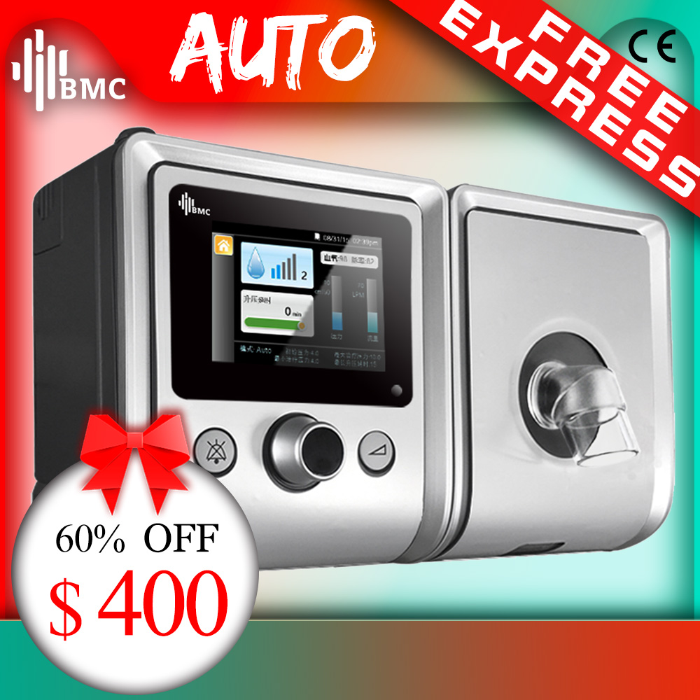 US $399 0 50% OFF|BMC GII Auto CPAP Machine E 20A/AJ Medical Equipment for  Sleep Apnea vibrator Anti Snoring Ventilator with Humidifier CPAP Mask-in