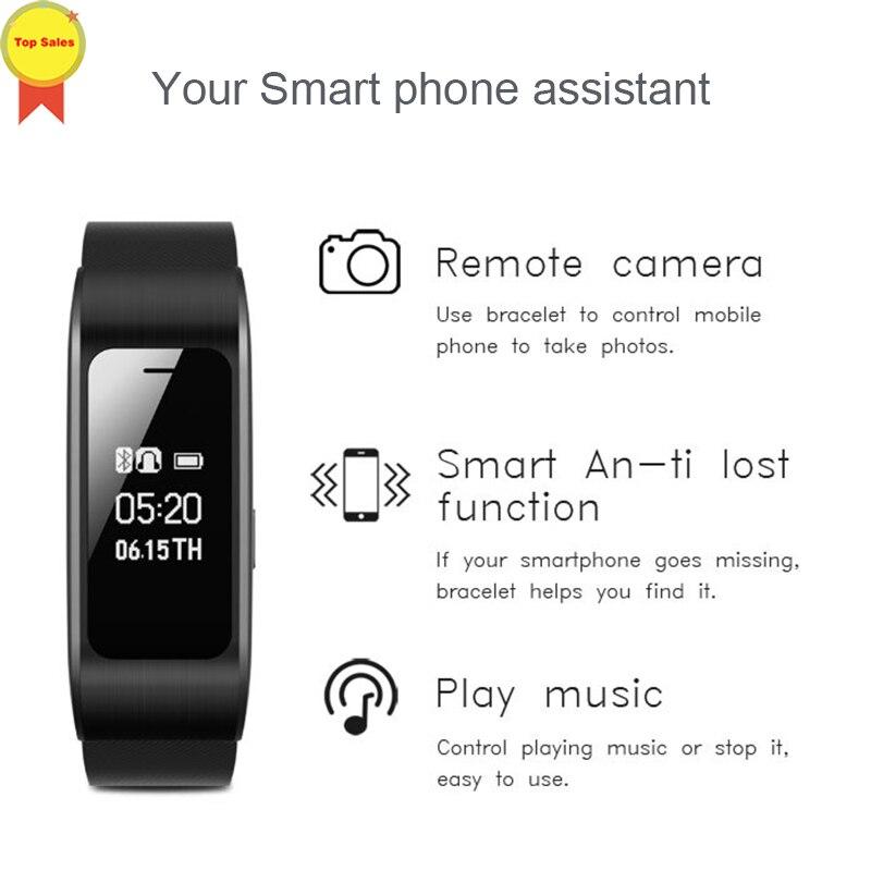 Умный talk band напоминатель отправить смс умный Браслет Шагомер фитнес трекер Твиттер push gps браслет для IOS Android Pk mi Band 4 - 2