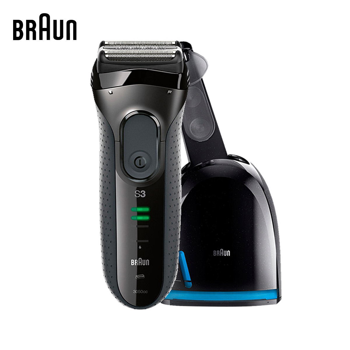 Braun Electric Shavers 3050cc Men Electric Razors Washable Reciprocating Blades Automatic Cleaning Center braun electric shavers 5030s rechargeable reciprocating blades high quality shaving safety razors for men