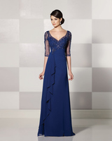 Cheap Chiffon Navy Blue Mother Of The Bride Dresses 2014 Brides Mother Dresses For Beach Weddings Online Parties Godmother Dress