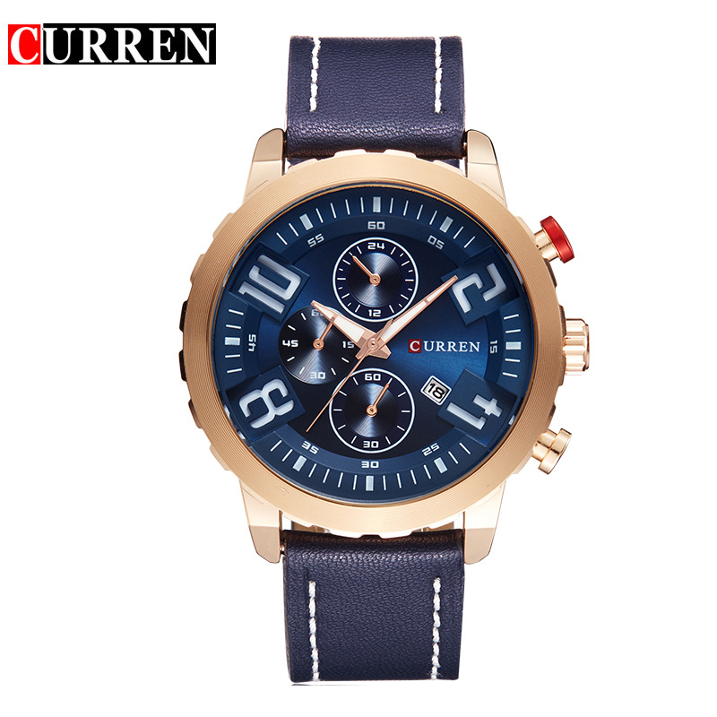 Reloj Hombre Curren Men Fashion Sports Leather Quartz Casual Watches Male Sports Wristwatch Fashion Clock Relogio Masculino 8193 top brand curren men s quartz watches men fashion wristwatch casual sports canvas clock male army analog relojes hombre 2017