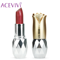 7 Color Makeup Moisture Shimmer Lipstick Batons Full Size Lip Stick Batom Makeup Cosmetic Waterproof Long